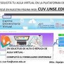 Solicitud de Aula Virtual en CUV